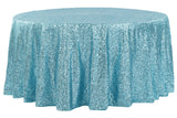 Glitz Sequin Round Table Linens - Plum