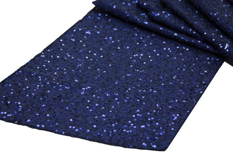 Glitz Table Runners - Navy Blue