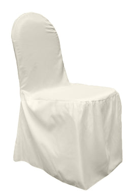 Lamour Satin Banquet Chair Cover - Ivory