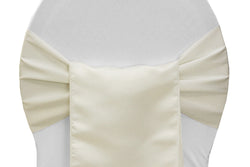 Lamour Satin Chair Sashes - Ivory
