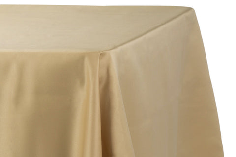 Lamour Satin Rectangular Table Linens - Gold Antique