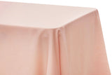 Lamour Satin Rectangular Table Linens - Pastel Pink