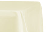 Lamour Satin Rectangular Table Linens - Peach