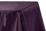 Lamour Satin Rectangular Table Linens - Royal Blue