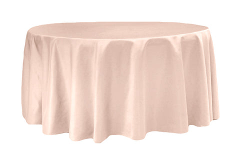 Lamour Satin Round Table Linens - Peach