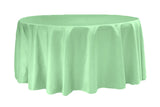 Lamour Satin Round Table Linens - Pastel Pink