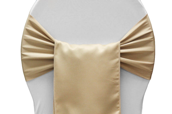 Lamour Satin Chair Sashes - Champagne