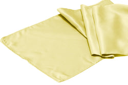 Lamour Satin Runner - Pastel Yellow