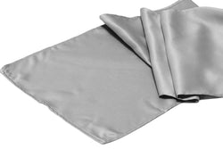 Lamour Satin Runner - Silver/Gray