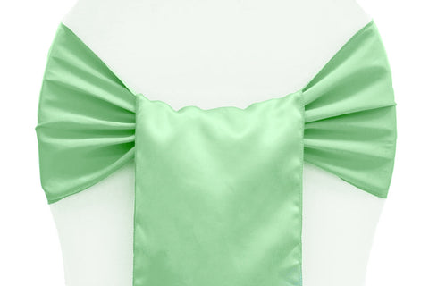 Lamour Satin Chair Sashes - Mint Green