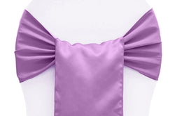 Lamour Satin Chair Sashes - Victorian Lilac