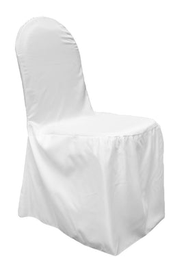 Lamour Satin Banquet Chair Cover - White