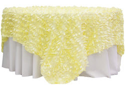 Leaf Petal Table Overlay - Yellow