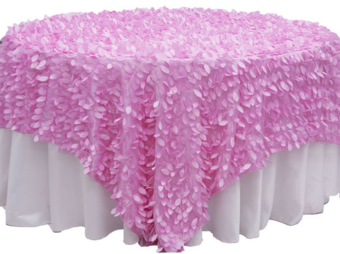 Leaf Petal Table Overlay - Pink
