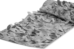 Leaf Petal Taffeta Table Runner - Silver