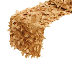 Leaf Petal Taffeta Table Runner - Gold