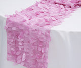 Leaf Petal Taffeta Table Runner - Fuchsia