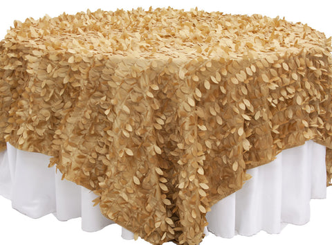 Leaf Petal Table Overlay - Gold