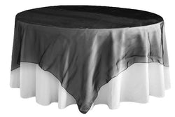 Organza Table Overlay - Black
