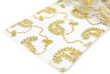 Paisley Sequin Table Runners - Gold