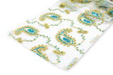 Paisley Sequin Table Runners - Turquoise/Gold