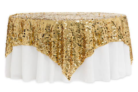 Large Payette Sequin Table Overlays  - Gold