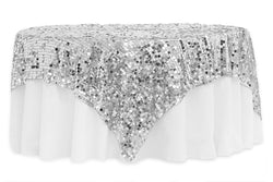 Large Payette Sequin Table Overlays  - Silver