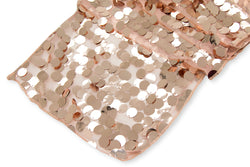 Large Payette Sequin Table Runner - Blush/Rose Gold