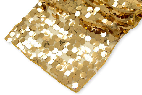 Large Payette Sequin Table Runner - Gold