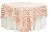 Petal Circle Taffeta Table Overlay - Lavender