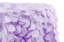 Petal Circle Taffeta Round Table Linens - Lavender