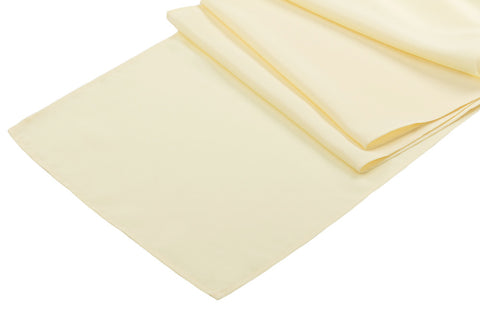 Polyester Table Runner - Pastel Yellow