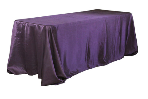 Satin Rectangular Table Linens - Plum