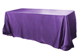 Satin Rectangular Table Linens - Cornflower/Serenity Blue