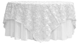 Satin Rosette Overlays - White