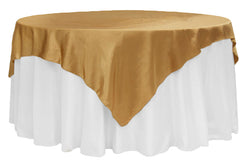 Satin Table Overlay - Antique Gold