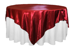 Satin Table Overlay - Apple Red