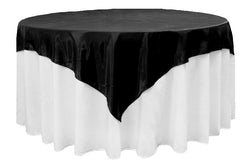Satin Table Overlay - Black