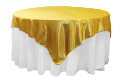 Satin Table Overlay - Bright Gold