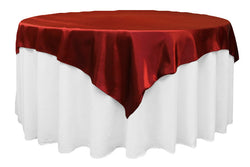 Satin Table Overlay - Burgundy