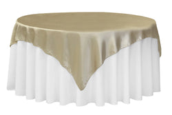 Satin Table Overlay - Champagne