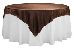 Satin Table Overlay - Chocolate Brown