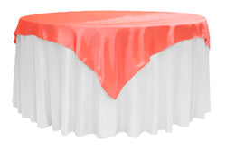 Satin Table Overlay - Coral