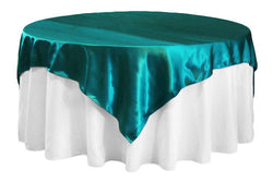 Satin Table Overlay - Dark Turquoise