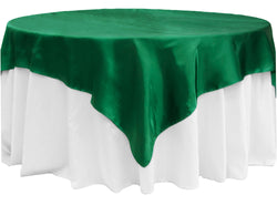 Satin Table Overlay - Emerald Green