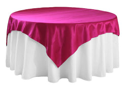 Satin Table Overlay - Fuchsia