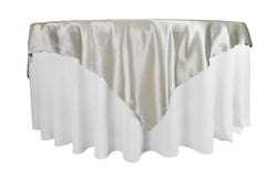 Satin Table Overlay - Ivory