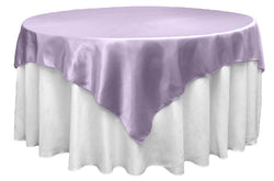 Satin Table Overlay - Lavender
