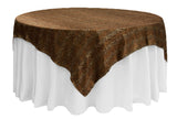 Satin Table Overlay - Plum