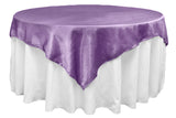 Satin Table Overlay - Yellow